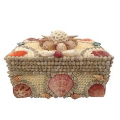 Seashell Box Shell Box Vintage Seashells Sailors by TheMermaidsBox, $140.00