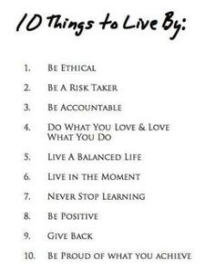 10 Things to Live By