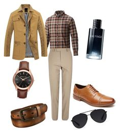 """""""style for men"""" by pachingarcia ❤ liked on Polyvore featuring Columbia, River Island, Michael Kors, Bally, Rockport, Christian Dior, Uniqlo, men's fashion and menswear"""
