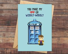 You're dalek table. doctor who valentines card. funny birthday card