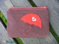 Meska - Piros esernyő - neszesszer Filetto kézművestől Zip Around Wallet, Coin Purse, Coin Purses