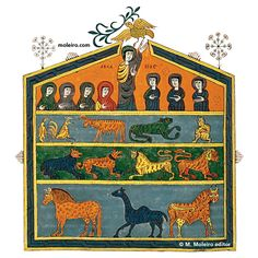 Illuminated manuscripts - NOAH'S ARK, PETRUS,