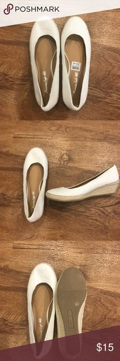 White Wedges White Wedges. Never worn. Size 7 American Eagle By Payless Shoes Wedges