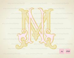 Wedding logo NM, MN | Vintage Monogram | Wedding Clip Art