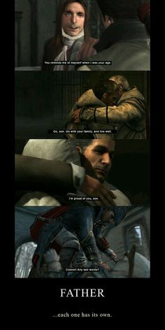 Gifs of all Assassin's Creed character including: Assassin's Creed I, Dragon Age, All Assassin's Creed Characters, Skyrim, Assassins Creed Memes, Connor Kenway, Infamous Second Son, Edwards Kenway, Games