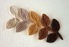crochet leaves | Crochet leaves leaves21 by flowerybliss on Etsy