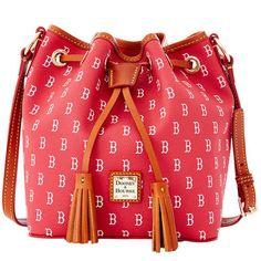 Dooney & Bourke Boston Red Sox Women's MLB Signature Kendall Crossbody Bucket Bag