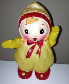 vintage big eye doll CELLULOID bunka face made in occupied japan