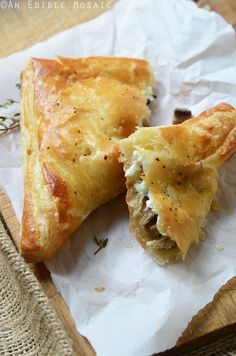 Easy Leftover Turkey, Mushroom and Brie Puff Pastries