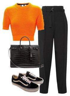 A fashion look from November 2017 featuring Phillip Lim, leather tote bags and orange sweater. Browse and shop related looks. Look Fashion, Teen Fashion, Korean Fashion, Fashion Outfits, Womens Fashion, Polyvore Outfits, Noora Style, Looks Hip Hop, Outfit Elegantes