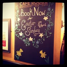 Easter blackboard by me