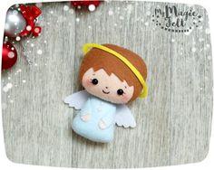 Adornos navideños fieltro Angel Navidad fieltro por MyMagicFelt