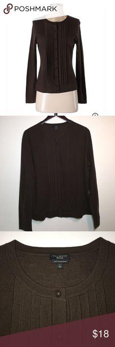 Talbots Pure Italian Merino Wool Cardigan ✔️Beautiful Merino Wool Crew Neck Cardigan ✔️Long Sleeve ✔️100% Merino Wool ✔️No Holes, Stains or Damages Talbots Sweaters Cardigans