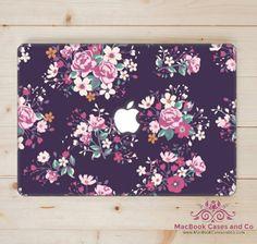 MacBook Case. Midnight Flowers. MacBook by MacBookCasesandCo