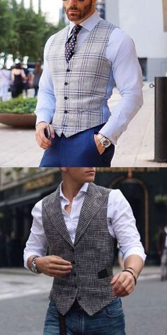 Fashion Classic Check V Neck Fitted Vest [ SHOP NOW ] Men's fashion casual vest coats for you. Gentleman Mode, Gentleman Style, Mens Fashion Wear, Suit Fashion, Boy Fashion, Fashion Outfits, Vest Coat, Western Outfits, Style Costume Homme