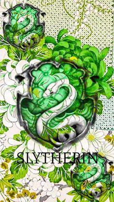 Hogwarts Houses + Kimono Patterns - Slytherin Pride