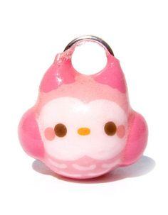 Kawaii Pink Owl Charm