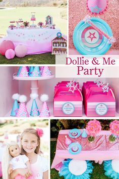 Dollie & Me Party theme, Doll theme party, Doll Inspired theme, Doll theme party invite by justalittlesparkle on Etsy https://www.etsy.com/listing/277979044/dollie-me-party-theme-doll-theme-party