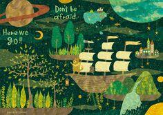 井上めぐみ | AWRD アワード Cute Illustration, Mammals, Art For Kids, Whimsical, Creative, Handmade, Painting, Design, Boats