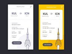 Book Flight UI designed by Moon Hui Lee. Connect with them on Dribbble; Web Design, App Ui Design, Interface Design, Book Design, Graphic Design, Ui Kit, Flight App, Card Ui, Apps
