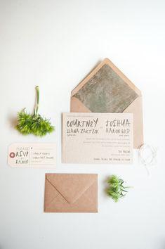 woodland inspired invitations, photo by Mikkel Paige http://ruffledblog.com/from-invitation-to-flower-inspiration #invites #weddinginvitations