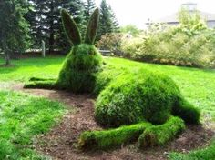 Topiary The Hare, in the Cambridge Sculpture Gardens. I wonder if I can get my boys to do this to the hedge between us and our neighbors? Unique Garden, Topiary Garden, Hedges, Dream Garden, Yard Art, Garden Inspiration, Beautiful Gardens, Beautiful Beautiful, Shrubs