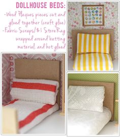 Dollhouse Beds DIY For Pennies
