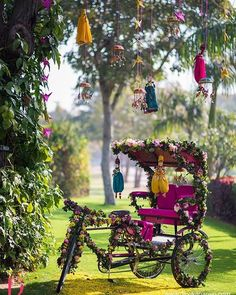 Such a cute Riskshaw decoration with the use of flowers in open garden for Sangeet/mehandi/haldi Ceremony. Contact us for bookings: 09821161369 #mehandi #engagement #haldi #weddingplanning #weddingplanner #decoration #decor #weddingdecor #wedding #eventplanner #event #venue #thepalace #faridabad #delhi #ncr #flowerdecoration #instagram #insta #photographer #anchors #dj #caterer #weddingphotography #catering #love #instago - Architecture and Home Decor - Bedroom - Bathroom - Kitchen And…