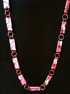 Crafty Soccer Mom: Duct Tape Paperclip Necklace tutorial