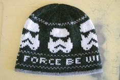 Free hand knitting charts for a hat to knit over 100 stitches. Free hand knitting charts for a hat to knit over 100 stitches. Featuring Star Wars and storm trooper designs. Knitting Charts, Knitting Stitches, Knitting Patterns Free, Free Knitting, Sewing Patterns, Free Pattern, Hat Patterns, Sweater Patterns, Crochet Mittens