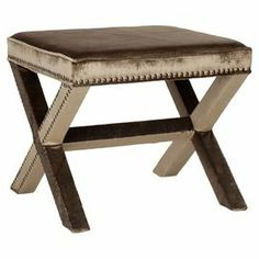 """Wrapped in sumptuous antique sage upholstery, this nailhead-trimmed ottoman adds a hint of glamour to your decor.  Product: OttomanConstruction Material: Birch wood and polyesterColor: Antique sageFeatures: Nailhead trim detailingGreat addition to any roomDimensions: 19"""" H x 21.5"""" W x 21.5"""" DCleaning and Care: Professional cleaning recommended"""