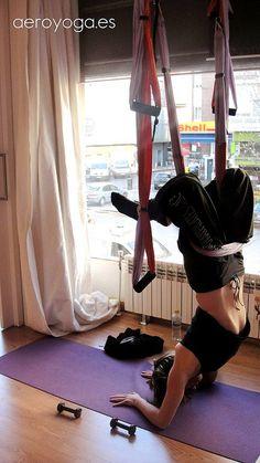Aerial Yoga, aerial Yoga Swing (AeroYoga®) www.aerialyoga.tv  Madrid by yogacreativo, via Flickr