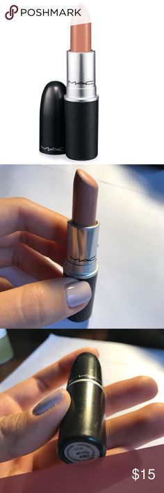 MAC Myth Lipstick Lightly used MAC lipstick in MYTH. Light shade of neutral nude in satin finish. Lipstick has been used, but still has plenty of life left! MAC Cosmetics Makeup Lipstick