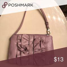 NWOT Light purple NY and co wristlet Fun ruffle design wristlet New York & Company Bags Clutches & Wristlets