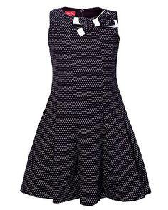 La-V Mädchen Kleid mit Kellerfalten Enganliegend