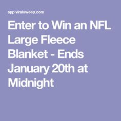 Enter to Win an NFL Large Fleece Blanket - Ends January 20th at Midnight