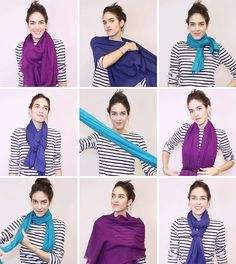 18 Ways to Tie a Scarf—Demoed with GIFs from InStyle.com