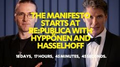 The Manifesto Starts At RE:PUBICA With Hyppönen And #Hasselhoff - 06.05.2014 - 16:15 bis 16:45, Stage 1 #digitalfreedom #rp14