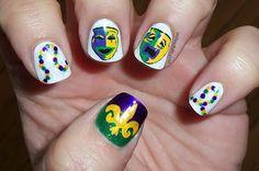 mardi gras nails (amber did it!)