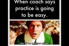 "Haha yeah swimming! Especially when your coach says, ""Today is gonna be real fun!"""