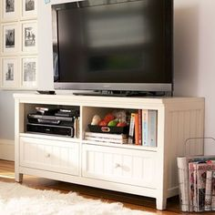 PB Teen Beadboard Media Stand, Chestnut at Pottery Barn Teen - Media Centers - Entertainment Centers - TV St