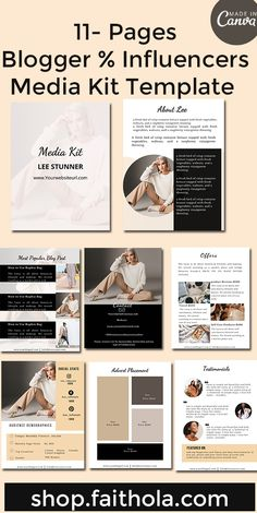 5 Pages Media Kit Template Canva Template Media Press
