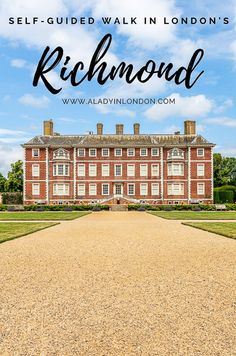 A self-guided walk in London's Richmond. This free walk will take you to the best places in the area. Click through for more on the A Lady in London blog.   #walk #walking #london #richmond