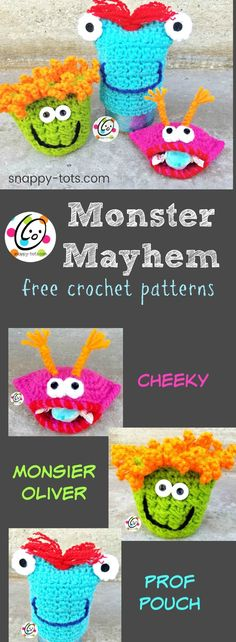 Free Patterns: Monster Mayhem ~ Snappy Tots