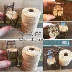 Silla alta  #miniatura #mini  #miniature #miniatures #casademuñecas #rustic #rusty #dollhouse #dollhouseminiatures #escala 1:12 #florffminiaturas #silla #sillas #muebles #madera #tejido #rustico #guadalajara #jalisco #mexico