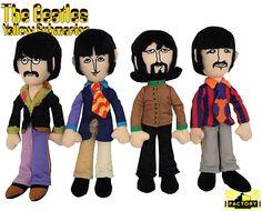 Beatles Yellow Submarine de Pelúcia: John, Paul, George e Ringo