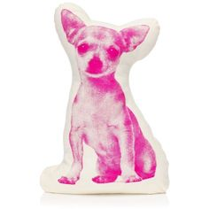 Juicy Couture Mini Chihuahua Pillow found on Polyvore
