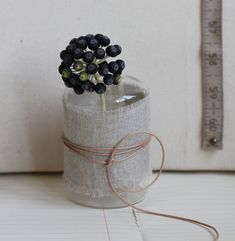 I wrapped string around this one in a similar way to the candle gift idea I ...  saniapell.com