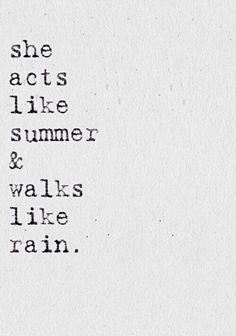 Walks like rain