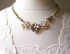 Repurposed Assemblage Jewelry / Vintage Rhinestone by hollyglimmer, $52.00